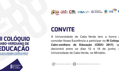 III Colóquio - Cabo-verdiano de Educação (CEDU 2017)