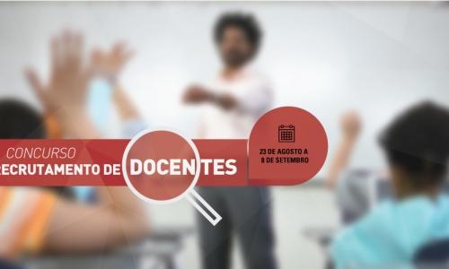 Candidaturas ao concurso de recrutamento de Docentes - 2017/18